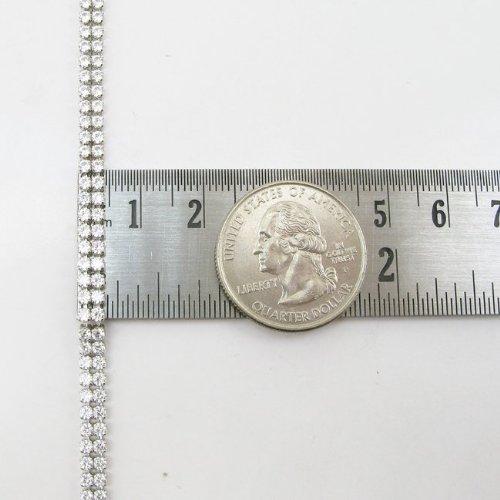 - bracelet en argent Sterling 925 avec 2 rangées de diamants mbmi59 Rose
