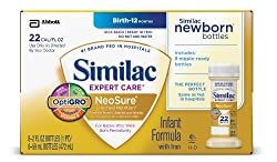 Similac NeoSure Infant Formula with Iron, Powder, 13.1 Ounces (Pack of 6)