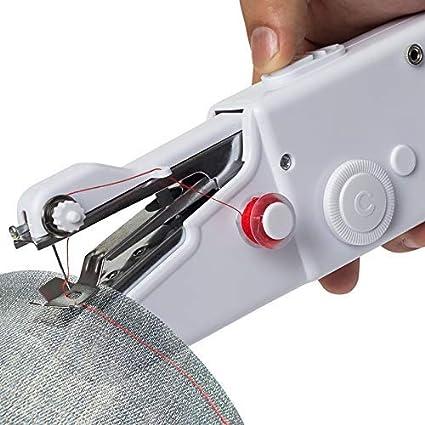 SEESEE.U - Mini máquina de coser giratoria y horizontal, color blanco electrónico, herramientas de costura portátiles, máquinas de coser