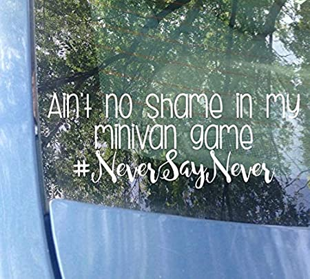 aint no shame in the mini van game vinyl funny car decal
