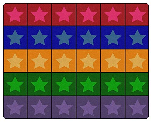 Childcraft Everyone's A Star Carpet, 10 Feet 6 Inches x 13 Feet 2 Inches, - Rugs 10' Star