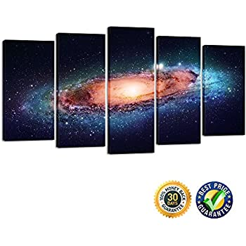 Creative Art- Modern Giclee Canvas Print Artwork Universe 5 Panels Splendid  Planetary Nebula Space Picture