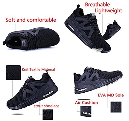 Go Tour Mens Walking Sneakers Air Cushion Sports Shoes Breathable Athletic Running Shoes by White GtiHxWsanw