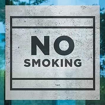 No Smoking CGSignLab 5-Pack 16x16 Basic Gray Window Cling
