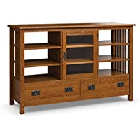 Caravel MH2659-12 Mission Hills Entertainment Console (Two, Mission Oak