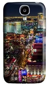 Las Vegas Strip North Custom Samsung Galaxy I9500/Samsung Galaxy S4 Case Cover Polycarbonate 3D