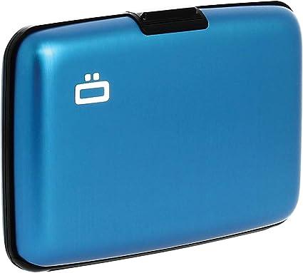 "ÖGON Smart Wallet /""Quilted Button/"" Kreditkartenetui Aluminium Silber RFID-Schutz"