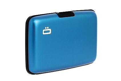 Ögon ST-Blue Stockholm Cartera Tarjetero de Aluminio Anodizado Azul