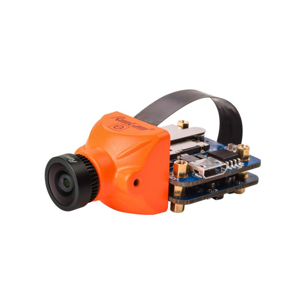 Crazepony RunCam Split Mini FPV Camera 1080P 60fps HD Recording with WDR Low latency TV-OUT FPV FOV 130°Recording FOV 165°for Multicopter