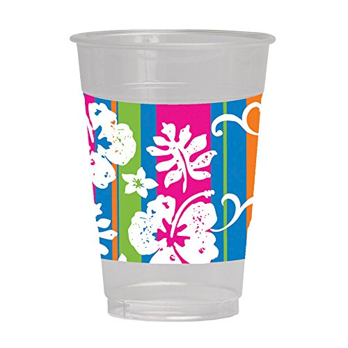Creative Converting 8 Count Plastic Cups, 16-Ounce, Bahama