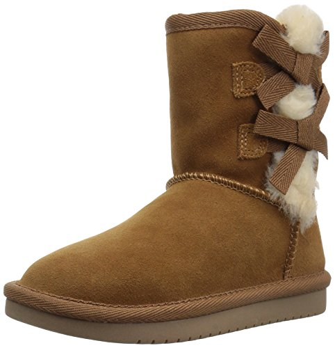 (Koolaburra by UGG Girls' Victoria Short Boot Fashion, Chestnut, 07 Toddler US Toddler)