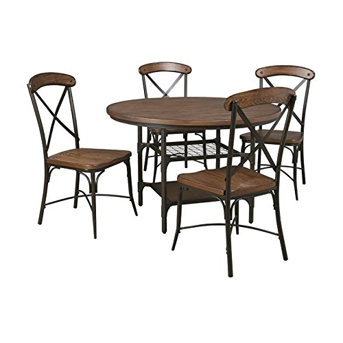 Ashley Rolena 5 Piece Dining Set in Brown