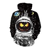 Rankei Fashion Hoodie Sweatshirts New Unisex Funny Halloween Pumpkin 3D Hoodie,X-Large,Yeh 02175