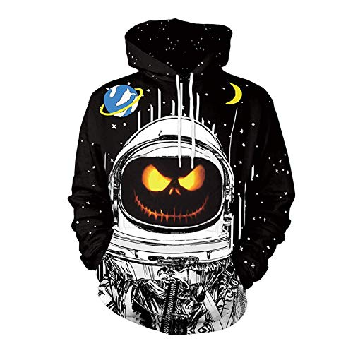 Rankei Fashion Hoodie Sweatshirts New Unisex Funny Halloween Pumpkin 3D Hoodie,X-Large,Yeh 02175 by Rankei outerwear