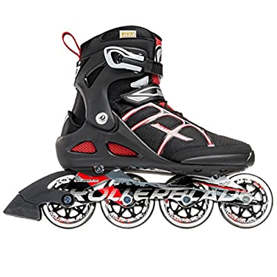 Rollerblade Macroblade 84 Alu 2016 All Around Workout Skate, Black/Red, US Size 11 : Sports & Outdoors