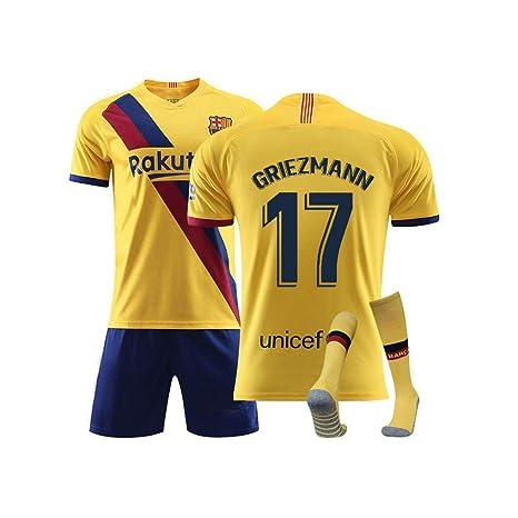 QQT Camisetas de fútbol Barcelona 17th Griezmann Away Field ...