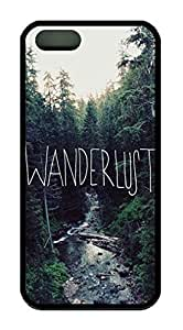 Wanderlust Theme iphone 5 5s Case TPU Material