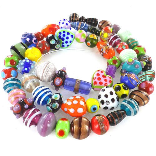 eCrafty's Everything But the Kitchen Sink! ONLY LAMPWORK Glass Beads Mix 1/2 Lb ()