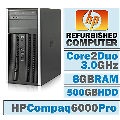 HP Compaq 6000 Pro MT/Core 2 Duo E8400 @ 3.00 GHz/8GB DDR3/500GB HDD/DVD-RW/WINDOWS 10 PRO 64 BIT