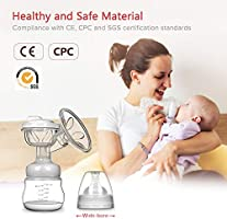 Electric Breast Pump 9-Speed Adjustment Pink One-Piece USB Electric Breast Pump Breastfeeding Advanced Automatic 3D Massage Milk Suckers for Home and Travel