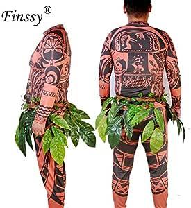 Moana Princesa Maui Cosplay Disfraz para Hombre Princesa Vaiana ...