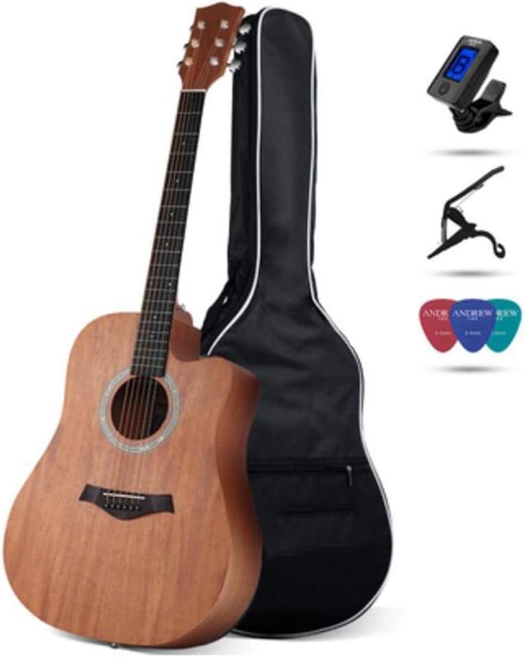 BAIYING-Guitarra Acústica Guitarra Clasica Transporte Al Aire Libre Práctica Estudiantil Adulto Fingerstyle Sonido Claro Cuerda De Acero De Metal Tilo, 4 Estilos, 7 Colores