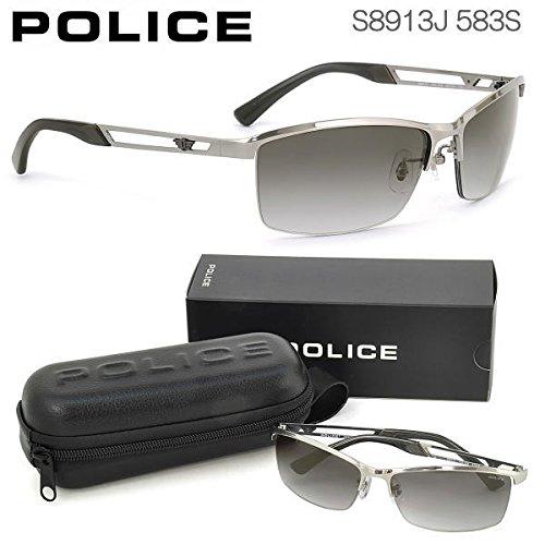 POLICE。ナイロールフレームが、目元を強調し、印象的にします。