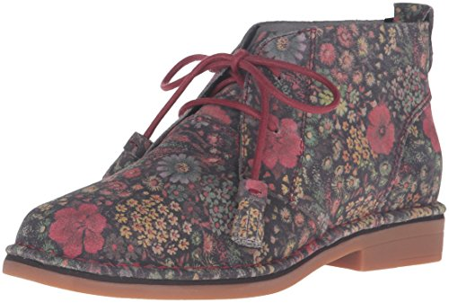 Hush Puppies Women's Cyra Catelyn Boot Black Floral Suede