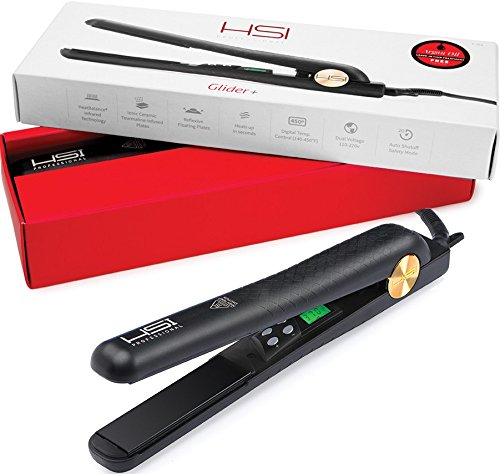 HSI-Professional-Digital-Ceramic-Tourmaline-Ionic-Flat-Iron-Hair-Straightener-with-Glove-Pouch-and-Argan-Oil-Treatment
