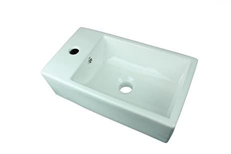 Small White Vessel Sink Vitreous China Rectangle Scratch And Stain  Resistant | Renovatoru0027s Supply
