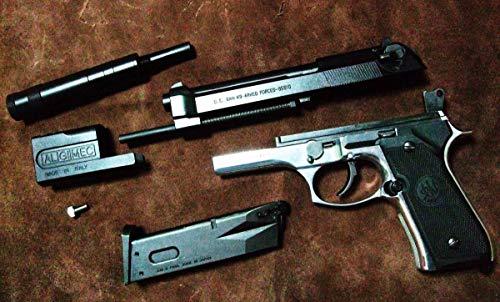 BERETTA M92F LEON custom ultra polished 観賞用 ベレッタ M92F 鏡面 パツ Zeke マルイ リアル刻印