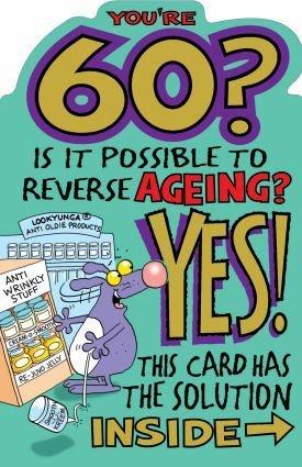 Carte d anniversaire 60 ans humour