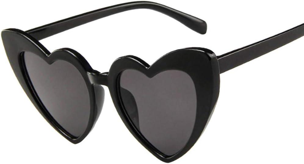 KCPer Love Heart Shaped Sunglasses Women Vintage Cat Eye Mod Style Retro Glasses Polarized Mirrored Lens Fashion Goggle Eyewear