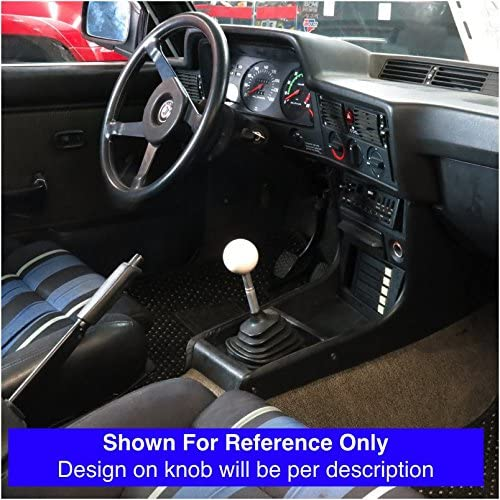 White Shift Pattern 58n American Shifter 76780 Ivory Shift Knob with M16 x 1.5 Insert