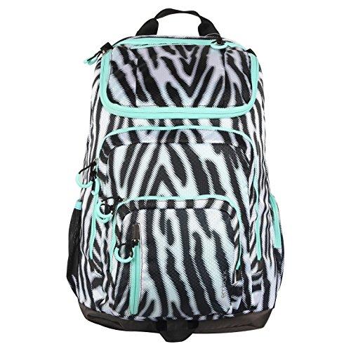 Embark Jartop Elite Cushioned Backpack - Wide Zebra Stripe with Light Green Detail