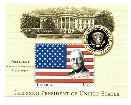 Liberia 32nd President of The USA - Franklin Delano Roosevelt Collectors Stamp Souvenir Sheet ()