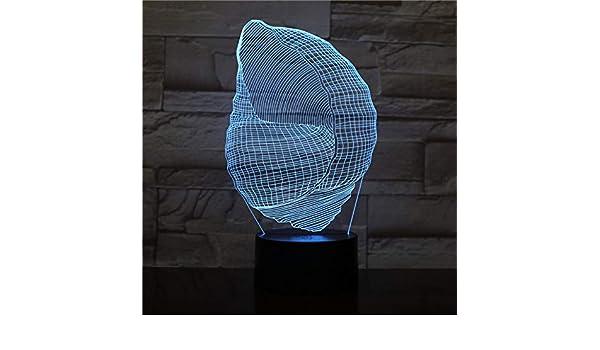 Luz Nocturna en Forma de caracola con ilusión de Control Remoto ...