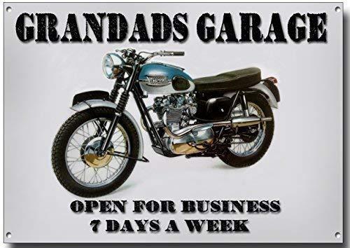 Grandads Garage Qualit/é Signe M/étal