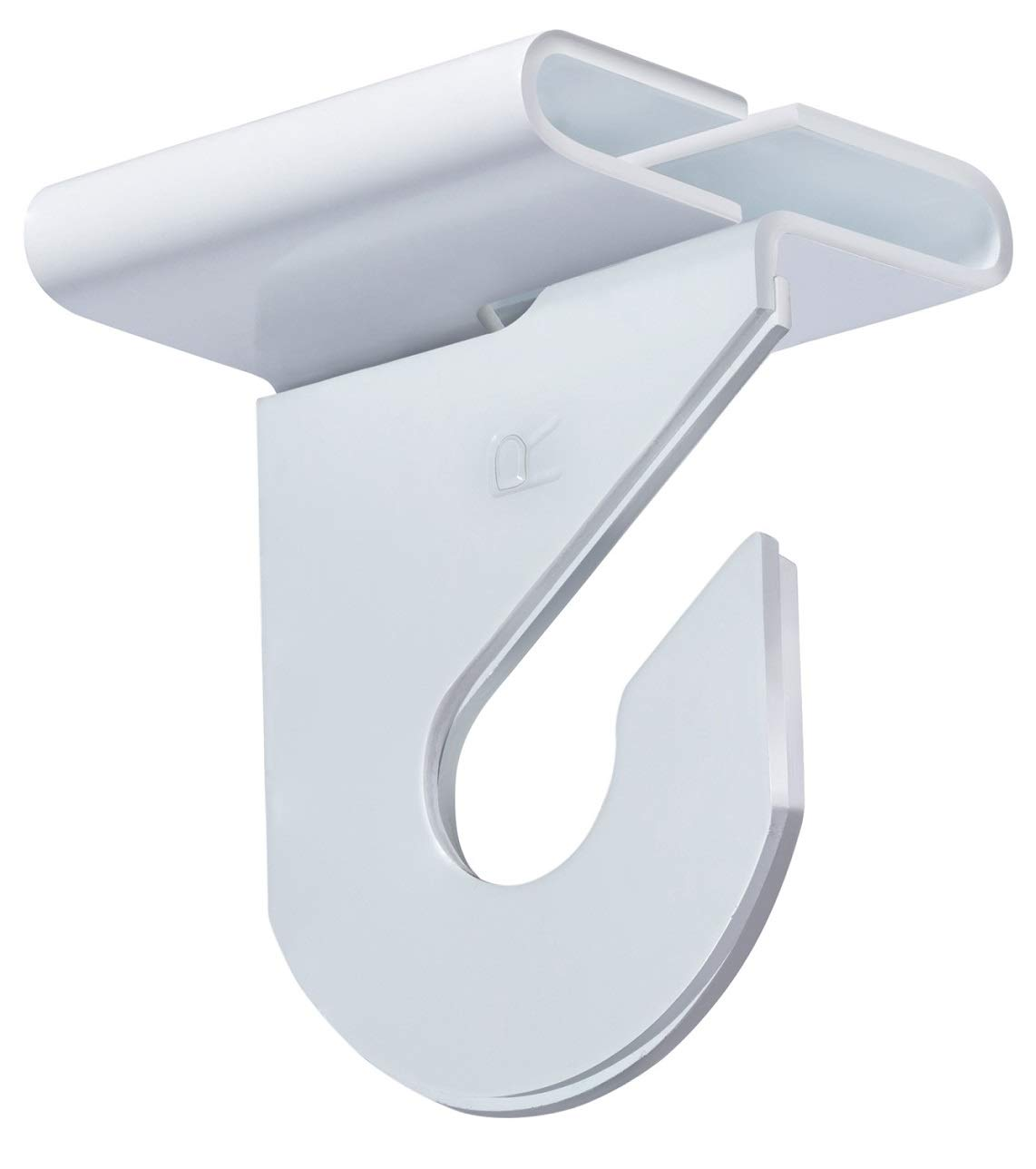 Pack of 50 Pairs – High Strength Aluminum Two Piece Ceiling Hooks for Drop Ceiling T Bars 50 Right and 50 Left White Enamel Finish Holds up to 15 lbs. 1W x 1 ½H