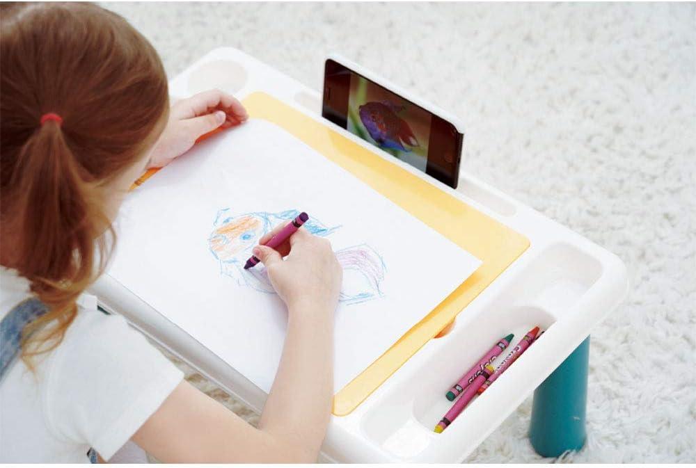 Set mit 38 Zubeh/örteilen Spieltisch Giros Mehrzweck-Aktivit/ätstisch Bauen und Spielen Kleinkind Schreibtisch Kleinkind Aktivit/ätstisch