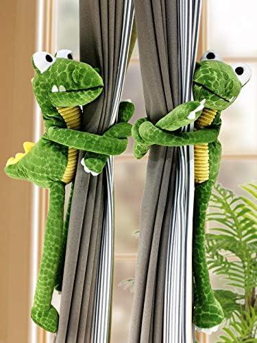 KUNORTH Curtain Buckle Clip for Home Decoration Curtain Tieback One Pair Of Super Cute Dinosaur Curtain Straps Curtain Holdbacks for Kids/' Bedroom