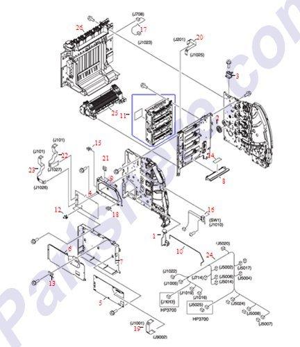(HP RM1-1213-040CN Formatter board assembly - For LaserJet 3500 )