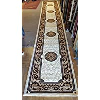 Traditional Long Runner Area Rug Ivory Kingdom Design #D128 (32in.X15ft6in.)