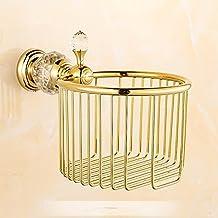 HYP-European American Antique Bathroom Set pendant towel rack toilet brush tissue rack?panier de rangement