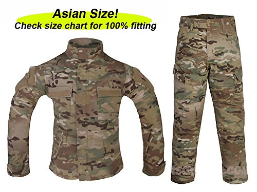 ATAIRSOFT Tactical Airsoft Kids Children BDU Hunting Combat Costume Uniform Shirt & Pants Suit Multicam MC (8Y)