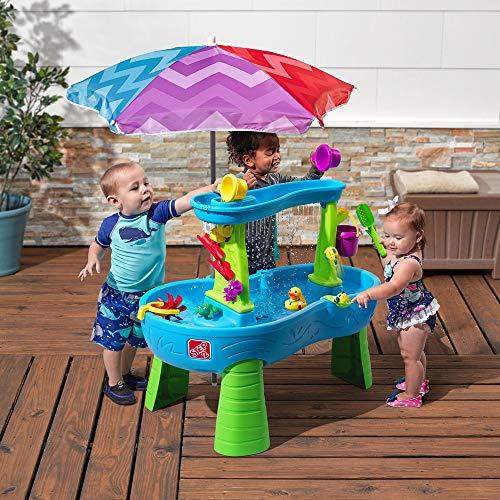 51xmBkOXoDL - Step2 Rain Showers Splash Pond Water Table | Kids Water Play Table with 13-Pc Accessory Set