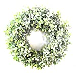 Cuiedailqhb-Artificial-Flowers-Artificial-Grass-Wreath-Garland-Ring-Home-Window-Showcase-Display-for-Hanging-Decor-Beach-Party-Wedding-Gift-Christmas-Decoration-Thanksgiving