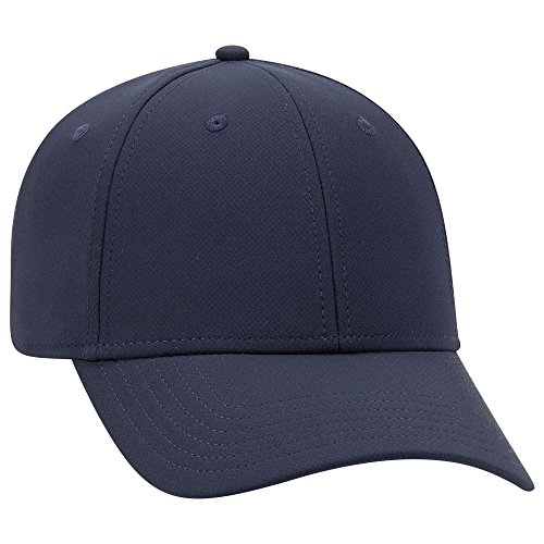 OTTO 6 Panel Low Profile UPF 50+ Cool Comfort Performance Knit Cap - Navy