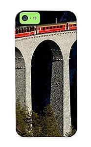 Tgthwv-2835-bnfkqaq Exultantor Train On A Stone Bridge Durable Iphone 5c Tpu Flexible Soft Case With Design