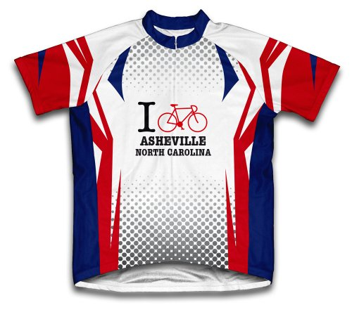 ScudoPro Asheville North Carolina NC Cycling Jersey for Men - Size M